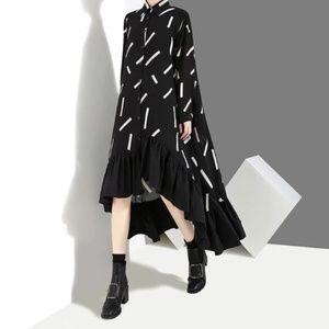Dresses & Skirts - Full Sleeve Geometrical Dress